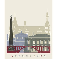 Luxembourg skyline poster vector image