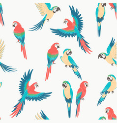 macaw parrot pattern vector image