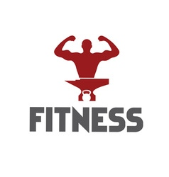 Man of fitness silhouette character kettlebell and vector