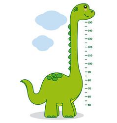 meter wall dinosaur vector image