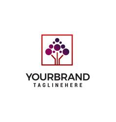 molecule technology logo design concept template vector image