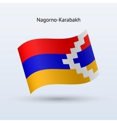 Nagorno-Karabakh flag waving form vector image