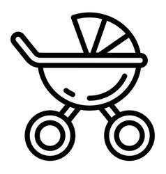 Newborn pram icon outline style vector