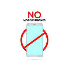 no mobile phones sing switch off telephone vector image