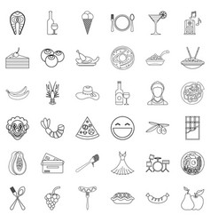 Participator icons set outline style vector