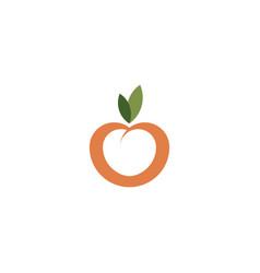 peach fruit icon logo symbol design vector image