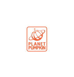 planet-pumpkin-logo vector image