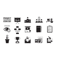 project management icon work planning office vector image
