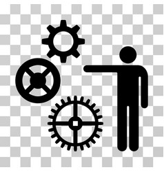 Project mechanics icon vector