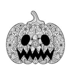Pumpkin hand drawn halloween vector
