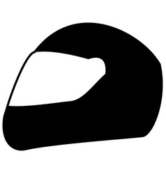 Racing helmet the black color icon vector