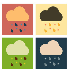 Rain icon in trendy flat style isolated on grey vector