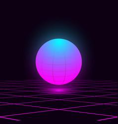 Retrowave glowing vivid blue pink vector