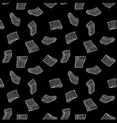 salmon fillet or steak dark outline vector image