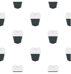 screw tooth implant pattern seamless vector image