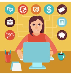 Self employed woman vector