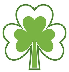 Shamrock icon Four leaf clover Abstract tree vector