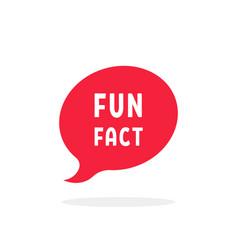 Simple red fun fact speech bubble vector