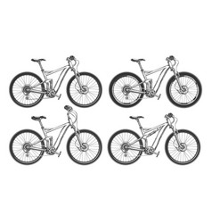 Sports bicycles set vector