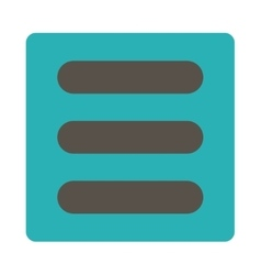 Stack flat grey and cyan colors rounded button vector