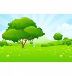 tree landscape vector image