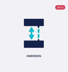 two color dimension icon from geometry concept vector image