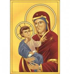 virgin Mary and Jesus Christ vector image