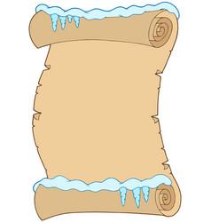 Winter parchment vector