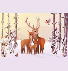 winter xmas wonderland vector image
