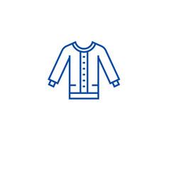 women sweater line icon concept women sweater vector image