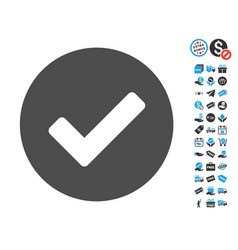 Yes flat icon with free bonus elements vector