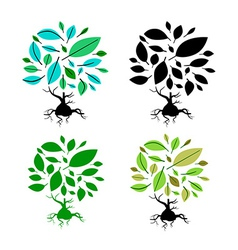 Abstract Tree Set vector image