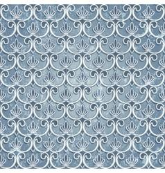 Blue seamless wallpaper vector image vector image