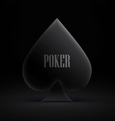gambling card symbol isolated on dark vector image vector image