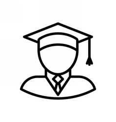 Graduate Outline Icon vector image