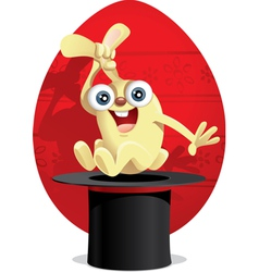 Magic Easter Bunny Cartoon vector image