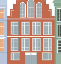 Original houses with the current paint vector image vector image