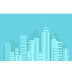 urban blue background vector image