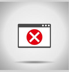 Alert window icon error window vector