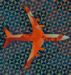 Geometric Airplane vector image