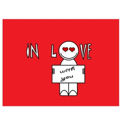 In love with you cartoon vector image
