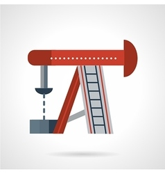 Oil rig flat icon vector image