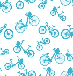 seamless blue bicycle bike vector image vector image
