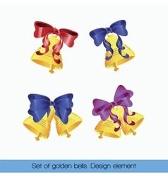Set of golden bells vector image
