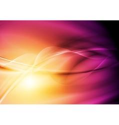 Bright wavy background vector image vector image