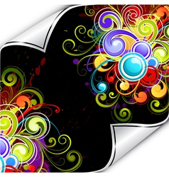 colorful background flourish vector image vector image