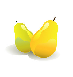 green and yellow pears vector image vector image