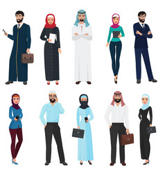 muslim arabic business people arab office male vector image vector image