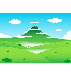 Nature mountain background vector image vector image