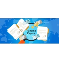 panama papers leaked document money laundering vector image